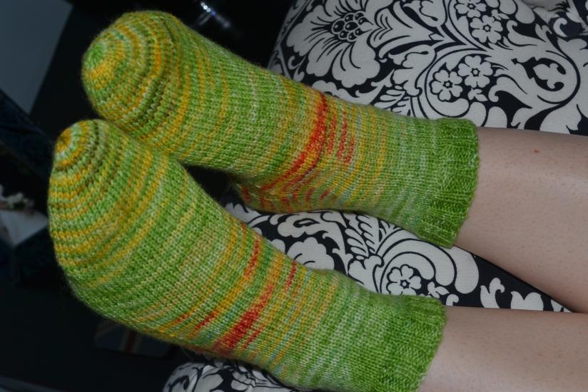 Summer flower socks
